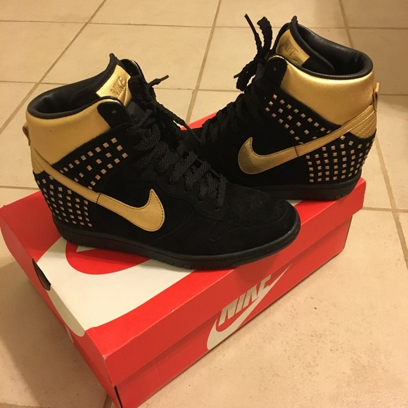 Black   Gold Nike Sky Hi Studs 30675e703b